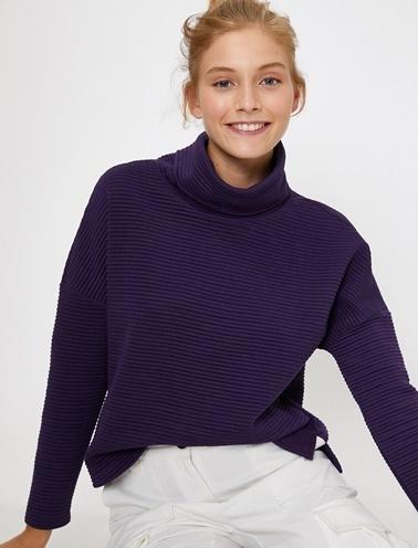 Koton Sweatshirt Mor